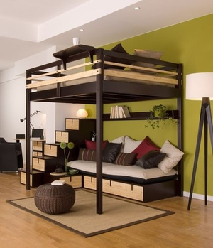 Es Ermöglicht Die Anordnung Unterschiedlicher Bereiche In Einem Zimmer Und  Ist Sehr Platzsparend. Beispielsweise Kann Unter Einem Hochbett Eine Couch  (oder ...