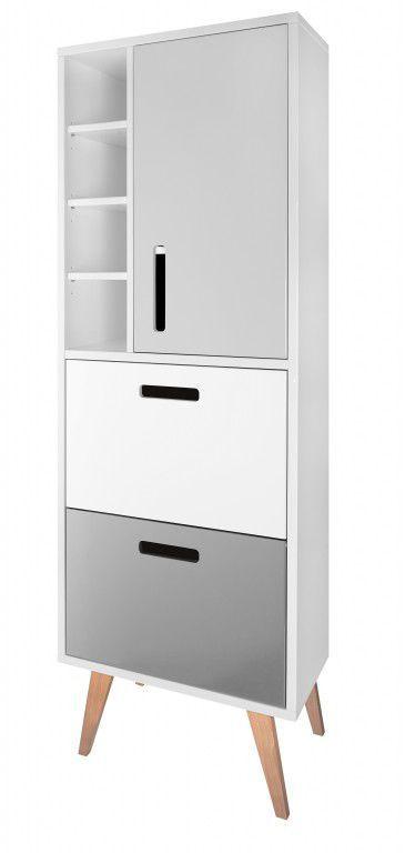 Moderner Badezimmer-Schrank / hoch / mit Schublade - COOL - BMF Bad