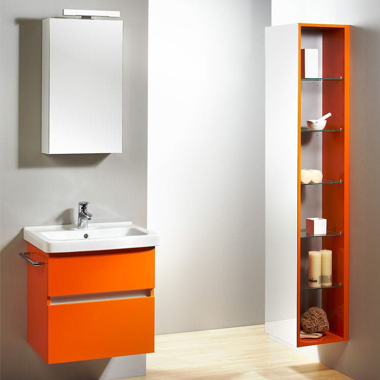 Hängend-Waschtischunterschrank / Holz / modern / Kit - Q2 - LE BON ... | {Waschtischunterschrank holz hängend 120 66}