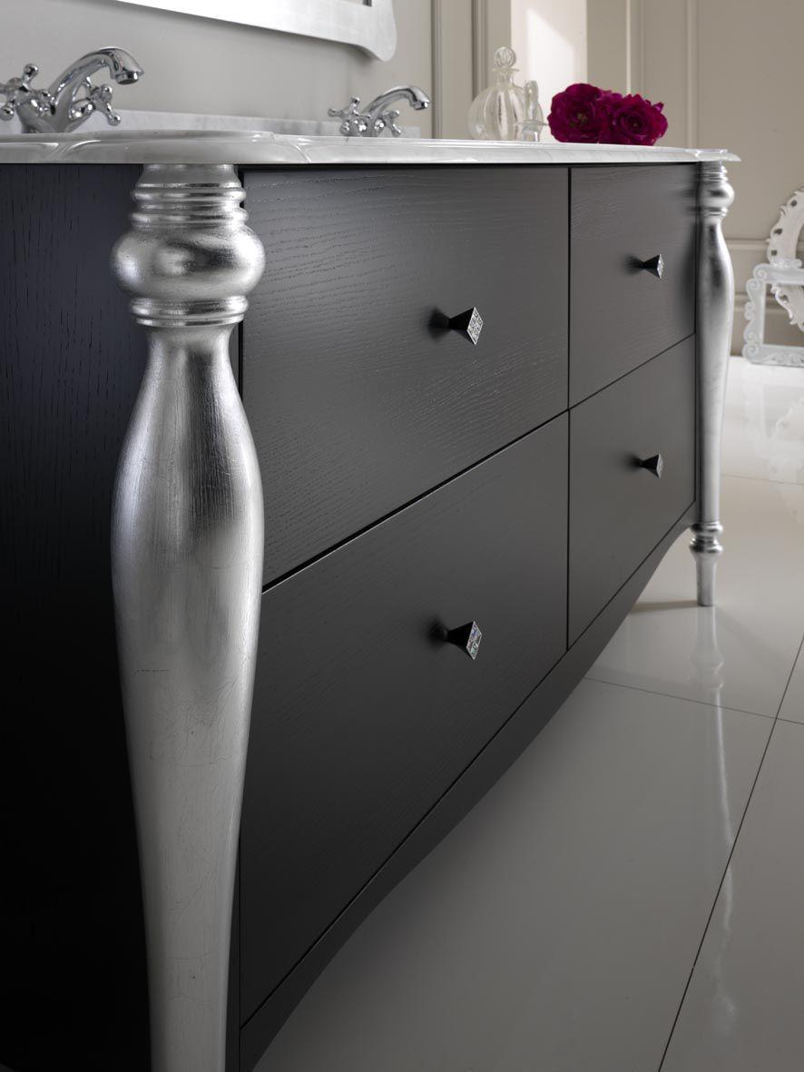 klassische badezimmer / aus massivholz - sinforosa - finitura nero