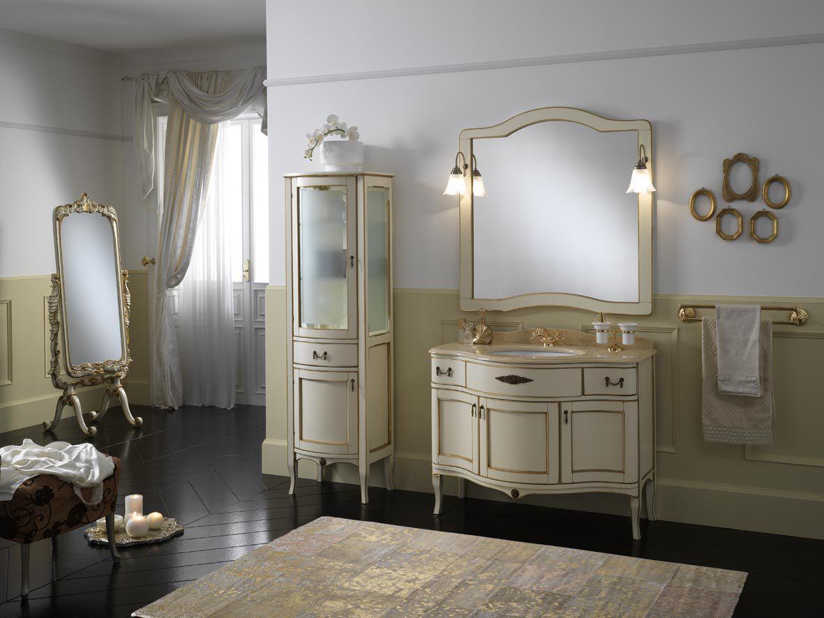 klassische badezimmer / holz - iris - finitura avorio oro - fenice