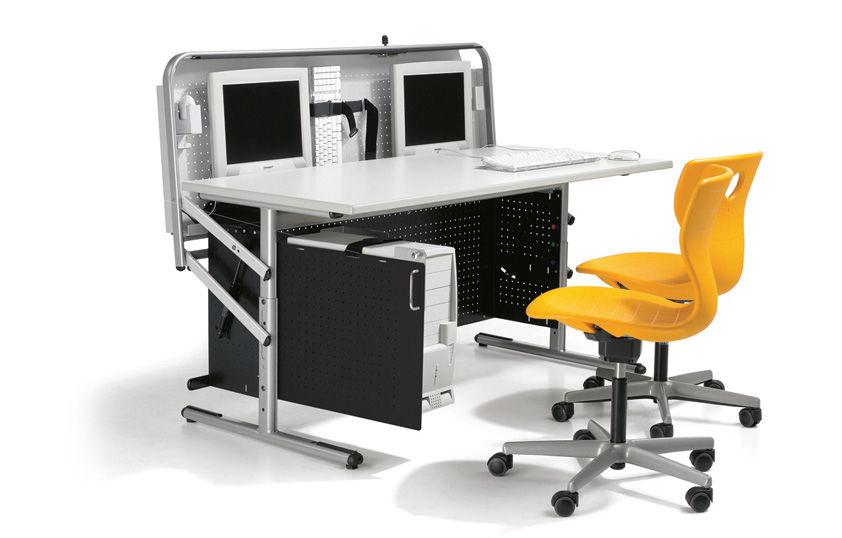 Computertisch modern  Moderner Computertisch / Metall / rechteckig / Gewerbe - INTEGRA - VS