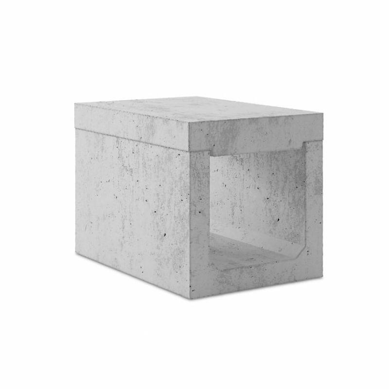 Abflussrinne für öffentliche Bereiche / Beton / Gitter / Schutz ...