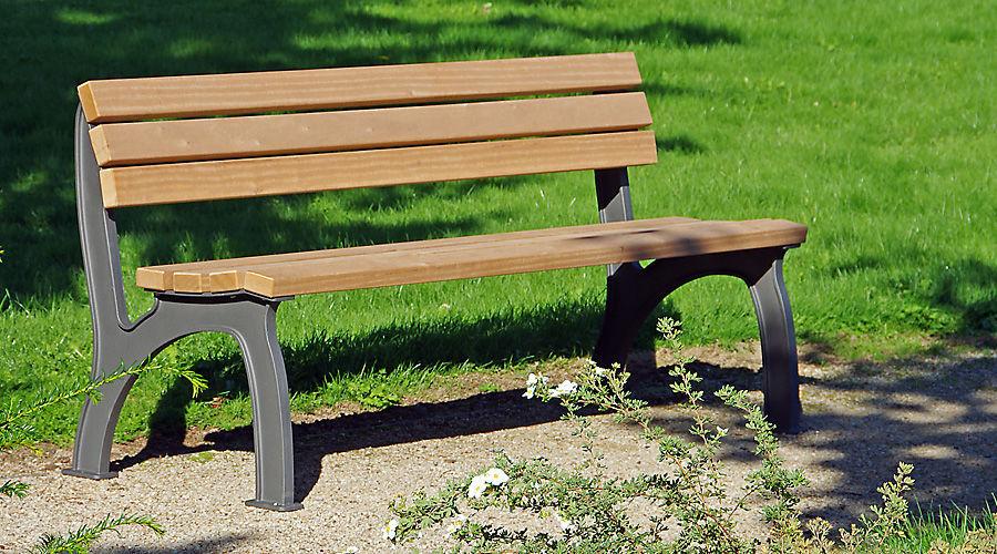 Gartenbank holz metall modern  Parkbank / modern / Holz / aus Gusseisen - BITBURG by Max Wehberg ...
