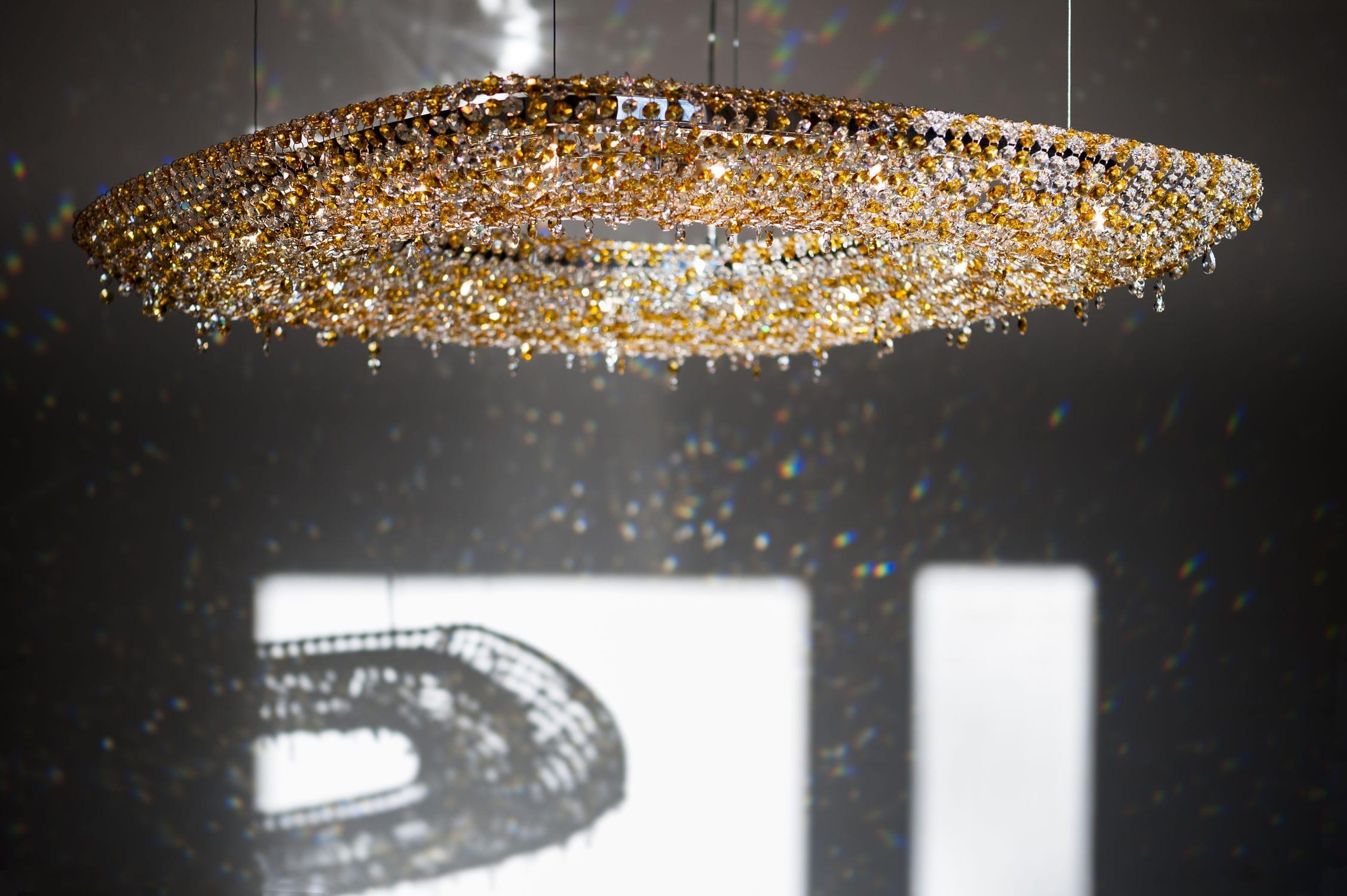 Lüster moderner lüster aus kristall handgefertigt oeno manooi