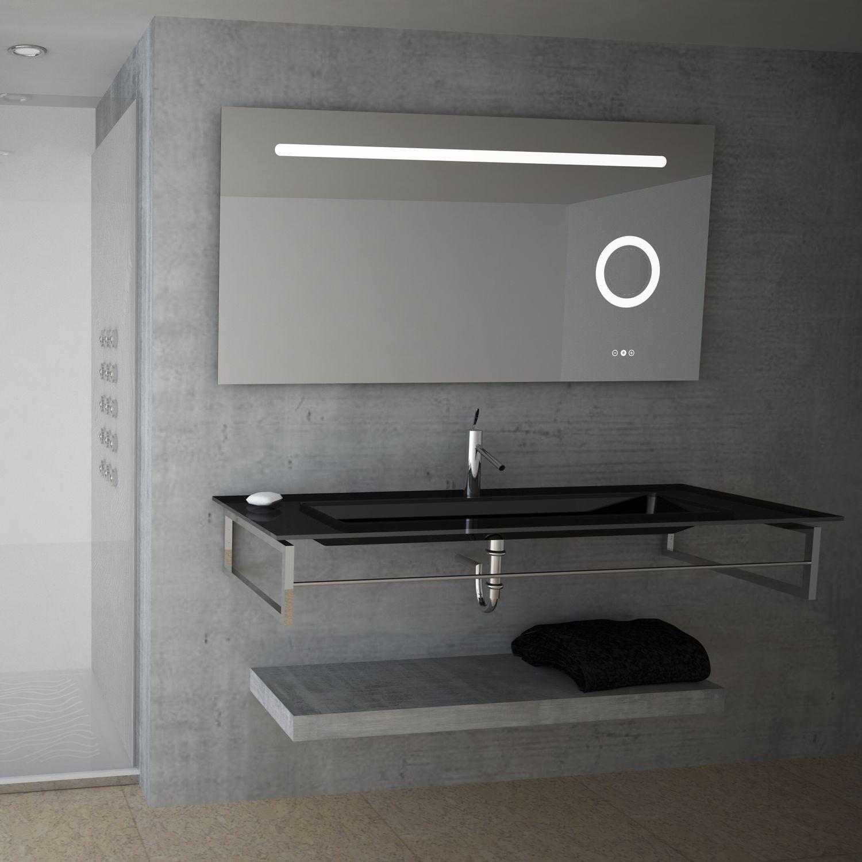 Wandmontierter Spiegel Für Badezimmer / LED Beleuchtet / Modern /  Rechteckig   FORM