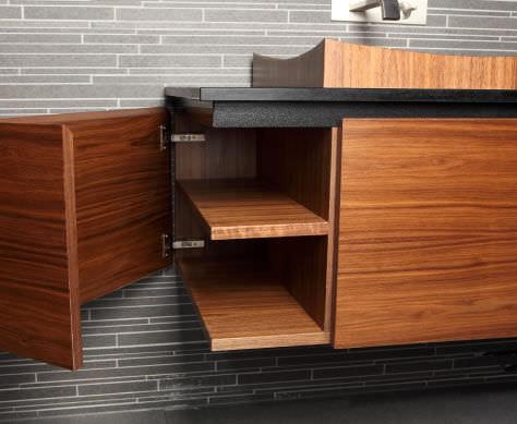 Holz-Waschtischunterschrank / modern / mit integriertem ... | {Waschtischunterschrank modern 60}