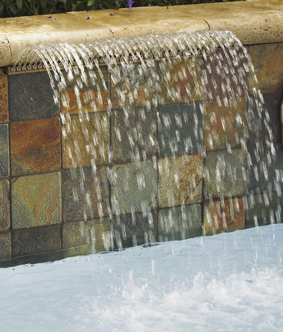 ... Wasserfall Für Pool MAGICFALLS™ Pentair Aquatic Systems ...