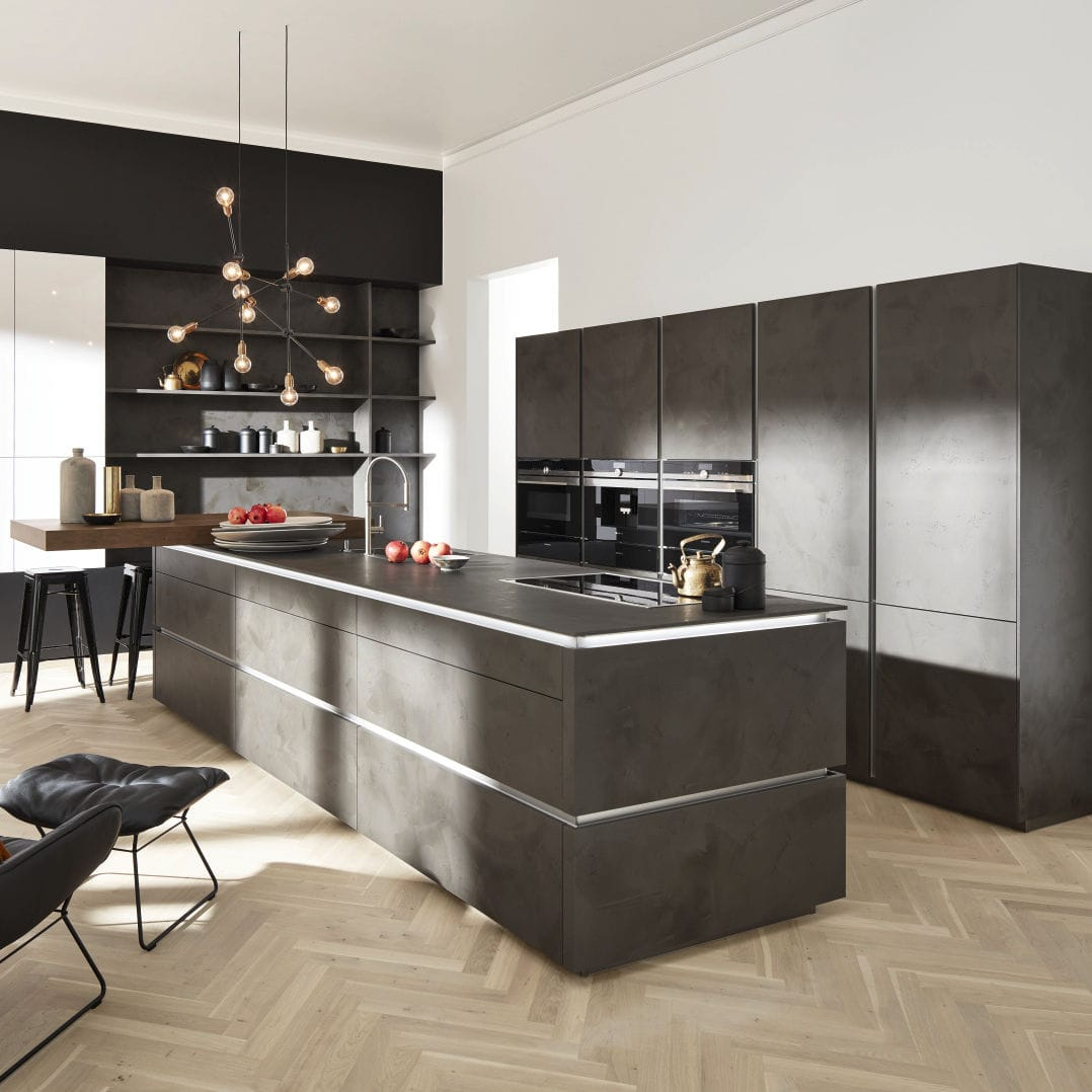 Moderne Küche / Laminat / Kochinsel / ohne Griff - PORTLAND/CORONA ...