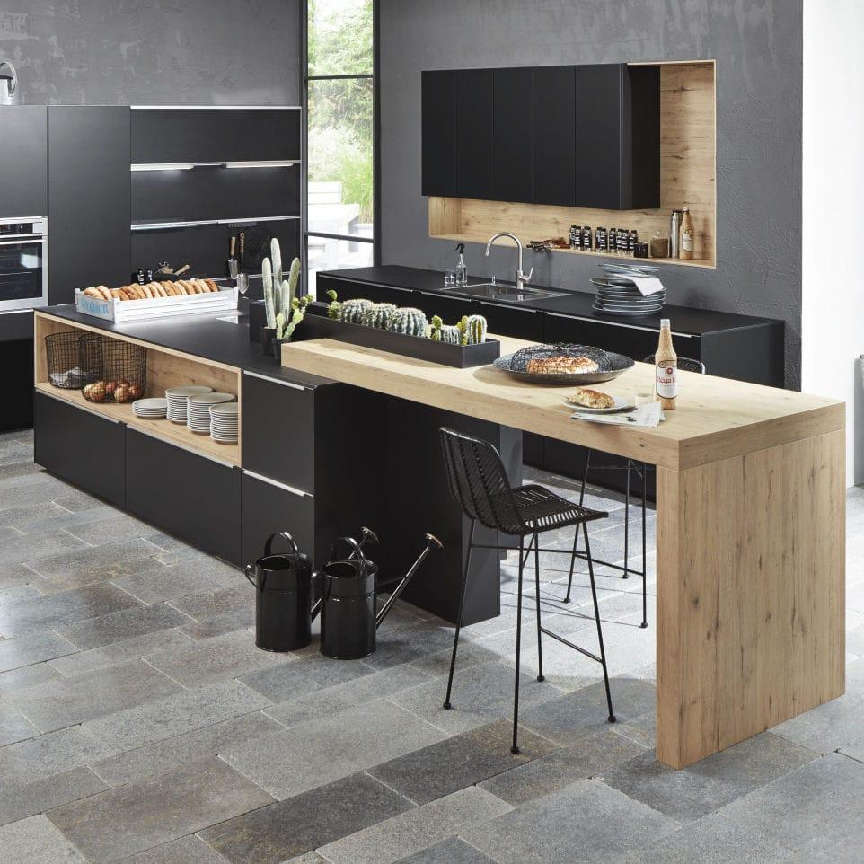 Nolte küchen arbeitsplatten holz Moderne Küche / aus Eiche / lackiertes Holz / Kochinsel - SOFT LACK ...