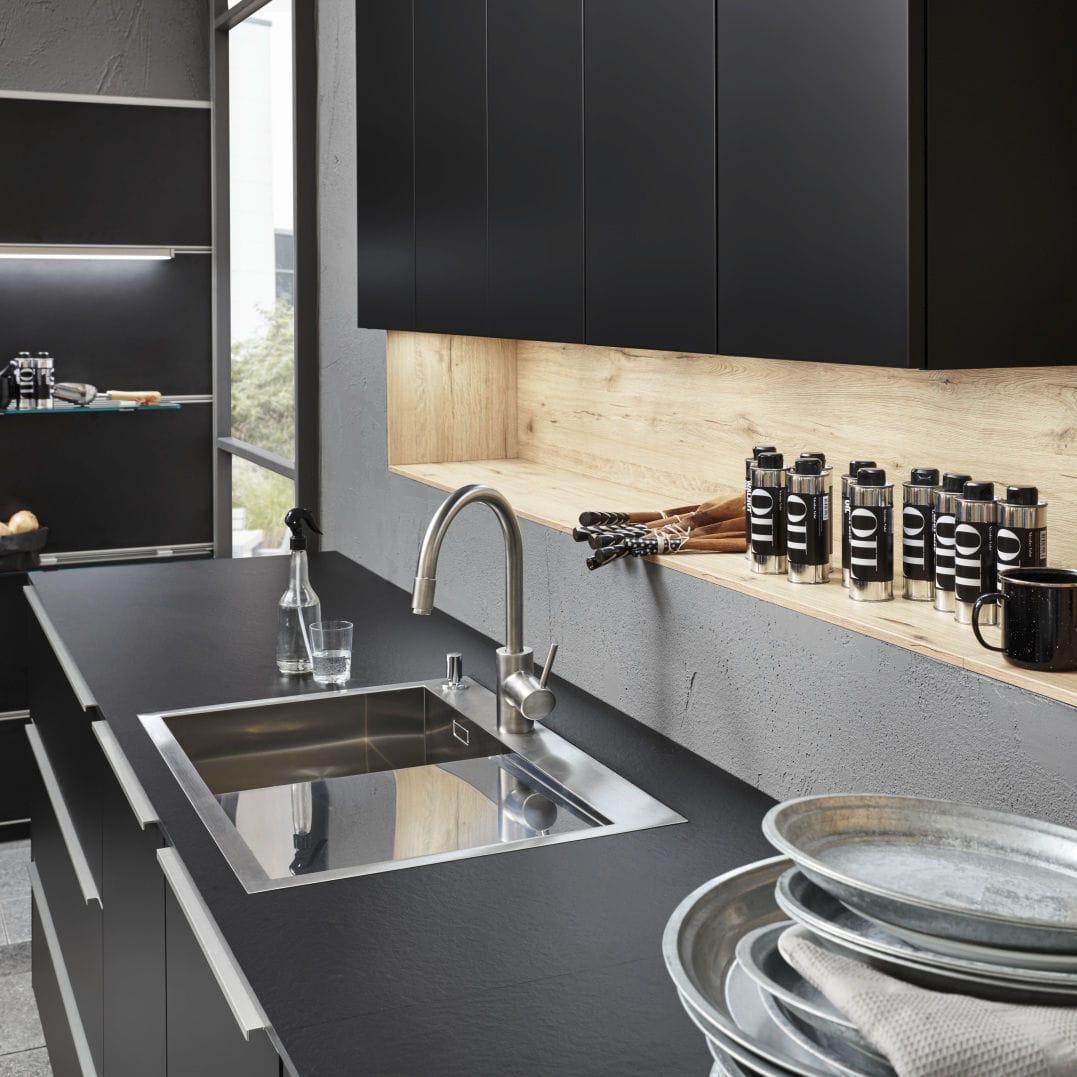 Holzarbeitsplatte / Küchen / schwarz - SOFT LACK/ARTWOOD - Nolte Kuechen