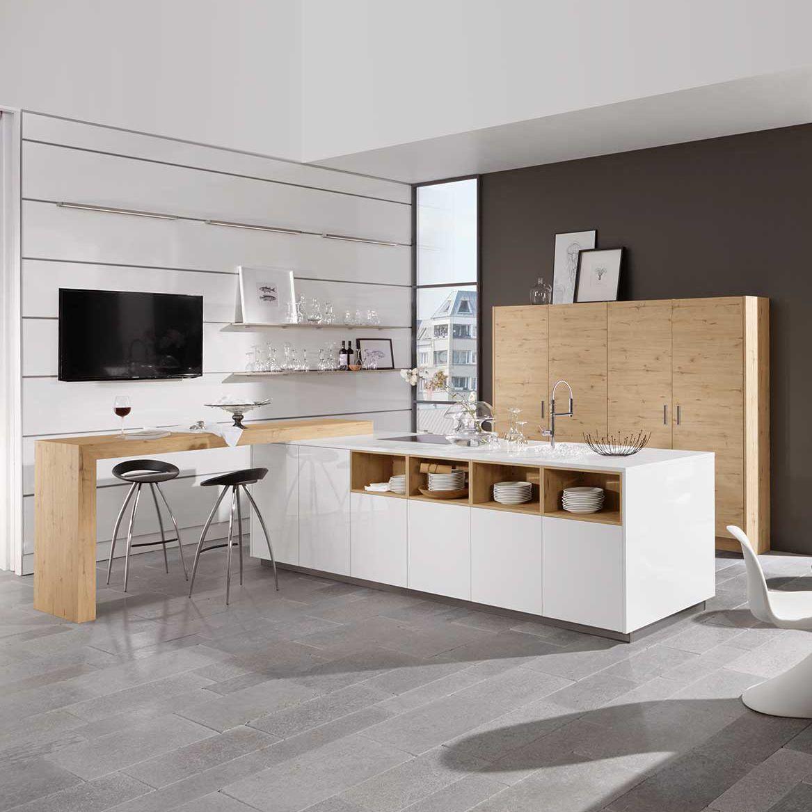 Moderne Küche / aus Eiche / Laminat / Kochinsel - ARTWOOD RUSTIC/LUX ...