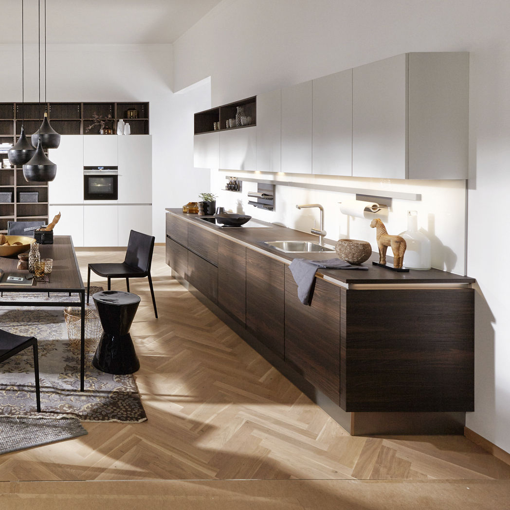 Moderne Küche / Nussbaum / Laminat / ohne Griff - ARTWOOD CUBA/ FEEL ...