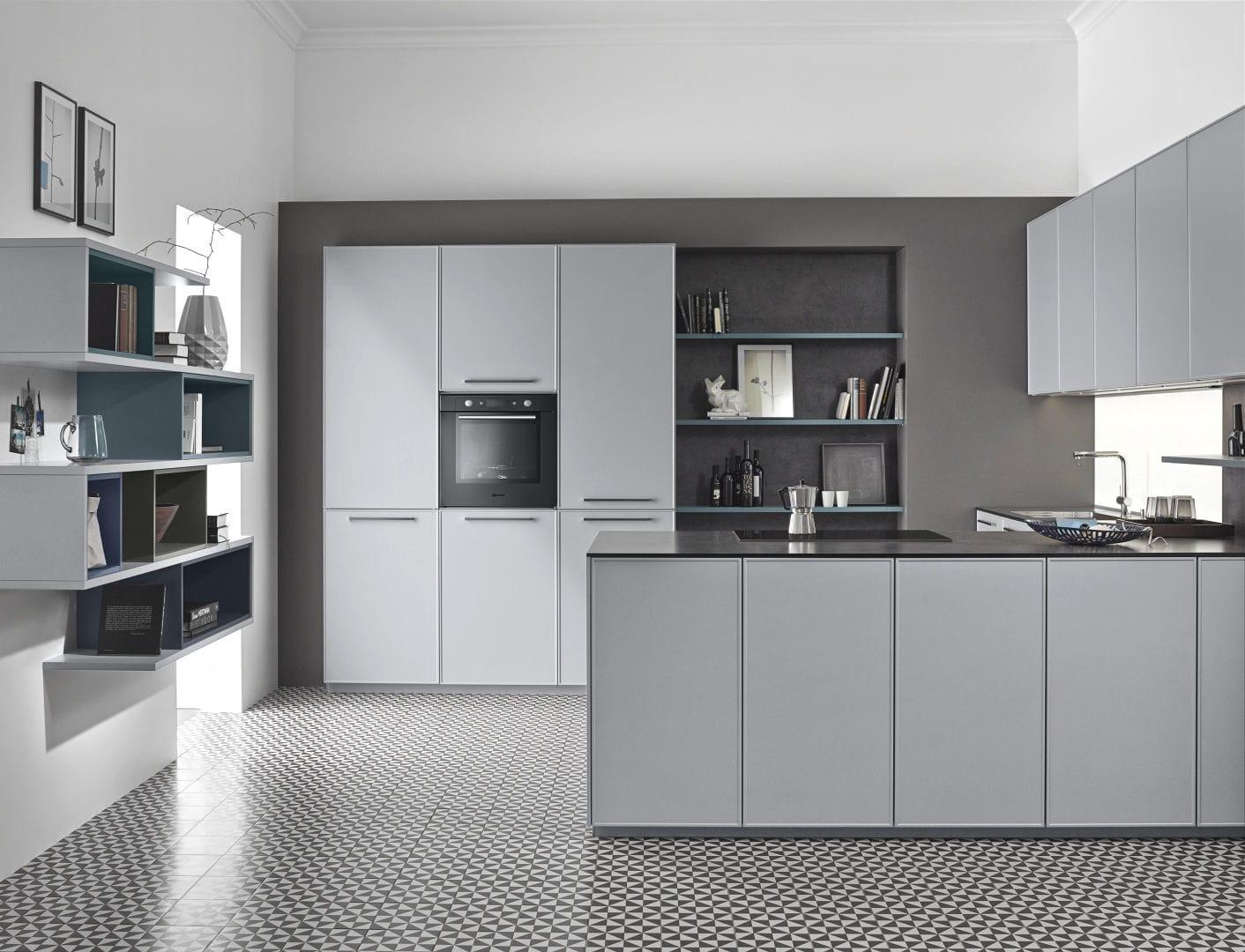 das zeitlose charisma vom modernen apartment design, moderne küche / lackiertes holz / l-förmig / mit griffen - carisma, Design ideen