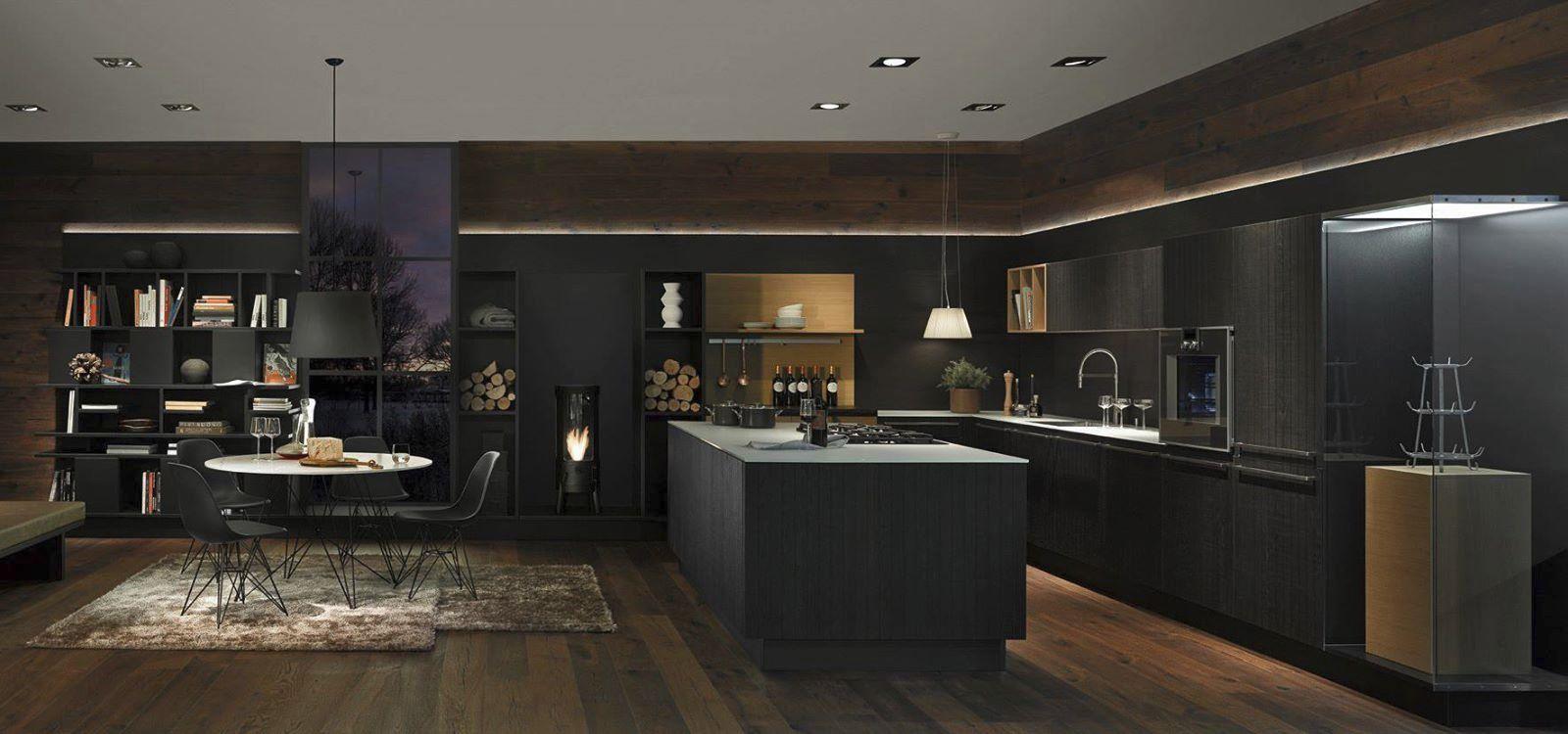 Moderne Küche / Holz / Kochinsel / mit Griffen - NEO CHALET - Nolte ...