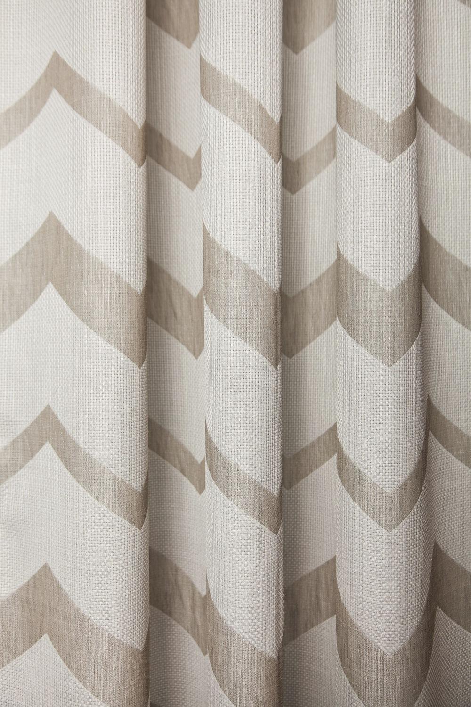 Stoff für Gardinen / mit geometrischem Muster / Polyester - BERGEN ...