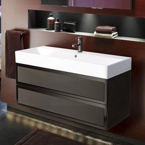 Hängend-Waschtischunterschrank / Holz / modern / mit Spiegel ... | {Waschtischunterschrank hängend 25}