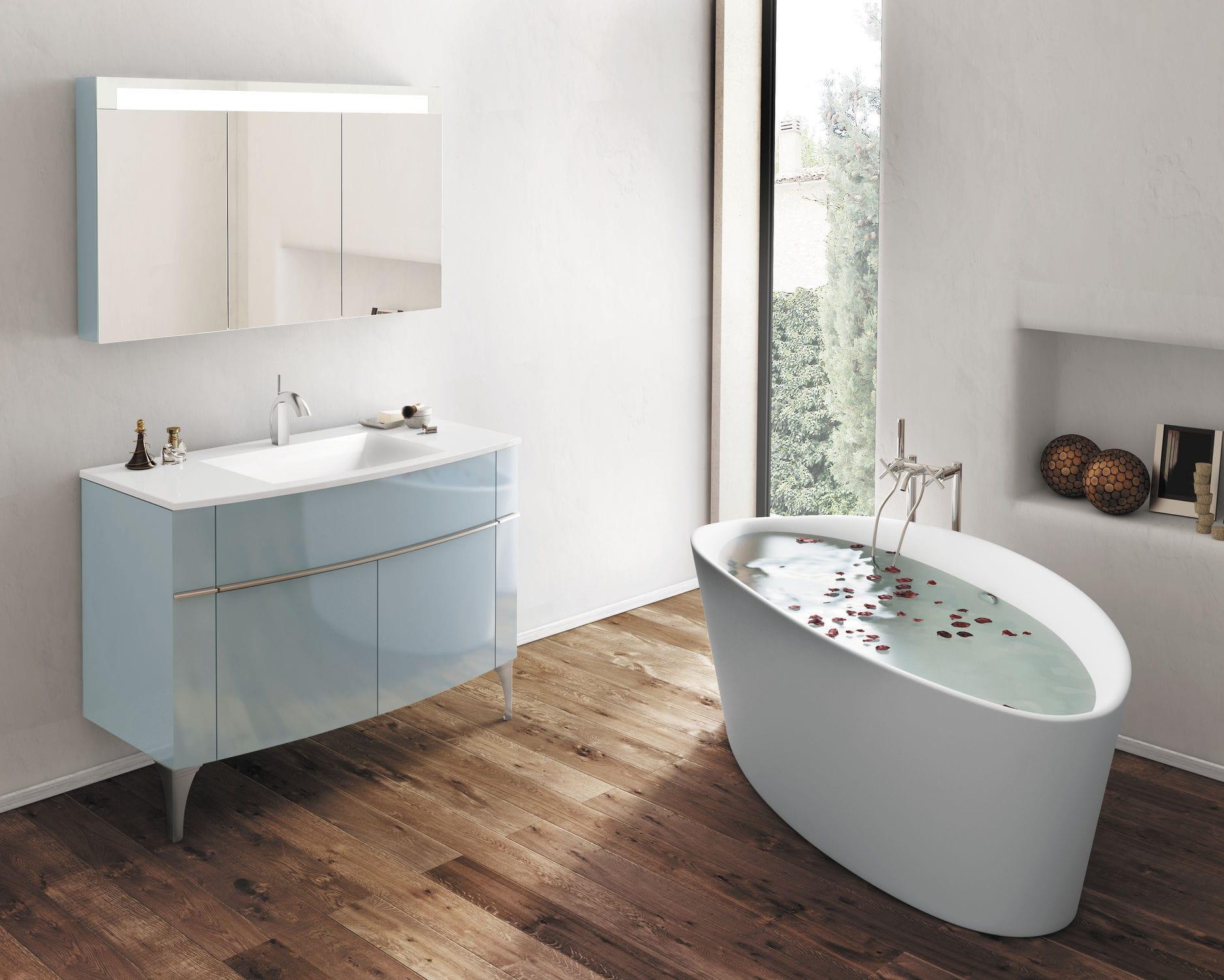 Hängend-Waschtischunterschrank / freistehend / Holz / modern ... | {Waschtischunterschrank modern 36}