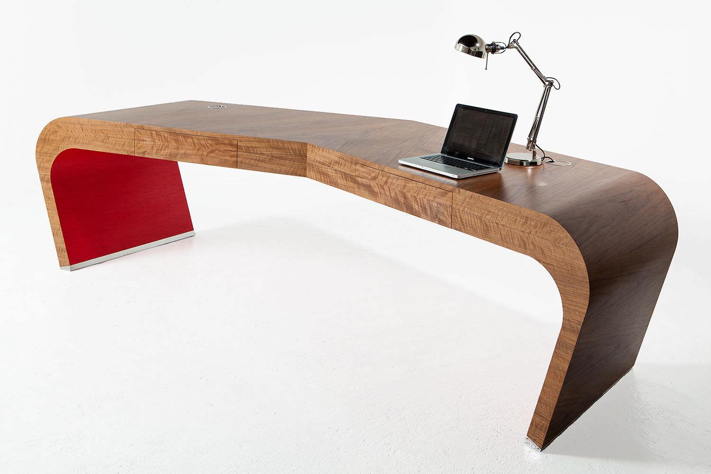 Schreibtisch design holz  Holz-Schreibtisch / originelles Design / Gewerbe - WING - SPLINTER ...