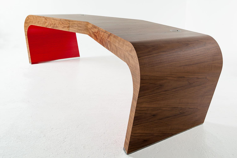 Schreibtisch Unterschrank Holz ~ Schreibtisch aus dunklem holz zu verschenken in düsseldorf free