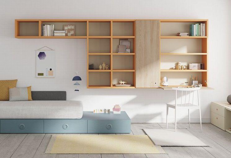 Wandmontiertes Regal / modern / Holz / Schlafzimmer - ORLEANS - Lagrama