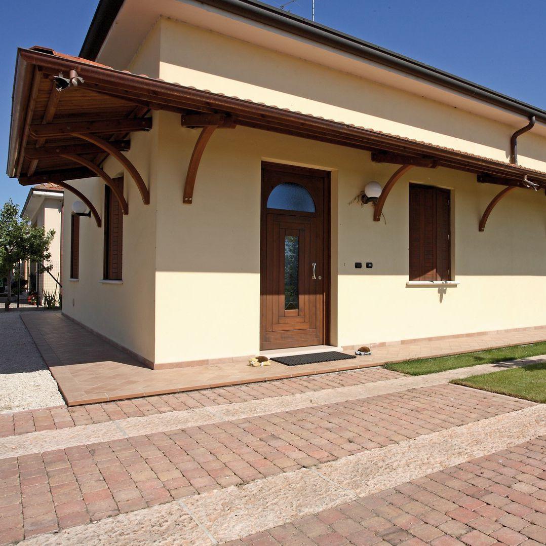 vordach für terrassen / eingang / holz - il ceppo