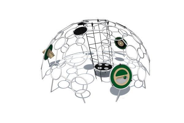 Klettergerüst Am Hang : Klettergerüst für spielplätze mit trampolin unity® dome