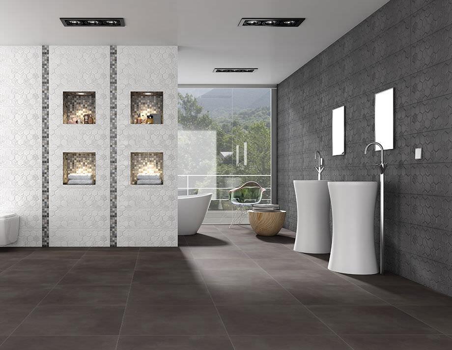 fliesen für badezimmer / bodenstehend / feinsteinzeug / mit, Wohnideen design