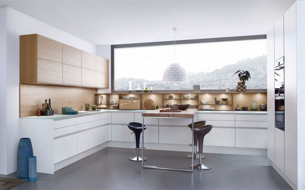 Moderne Küche / Beton / Glas / Holz   TOPOS C