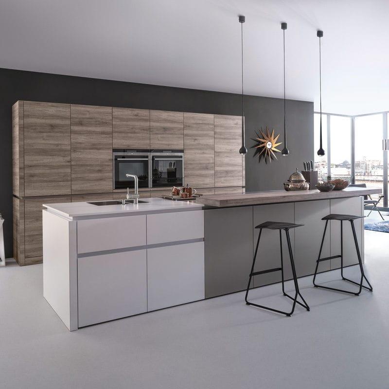 Moderne Küche / Laminat / Kochinsel / ohne Griff - SYNTHIA-C | CERES ...
