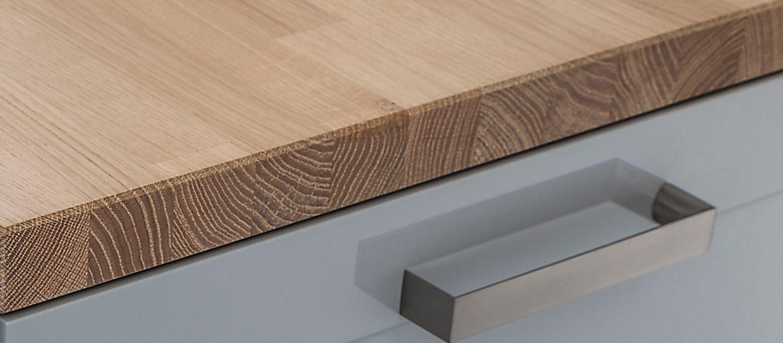 Massivholz-Arbeitsplatte / Küchen - LEICHT
