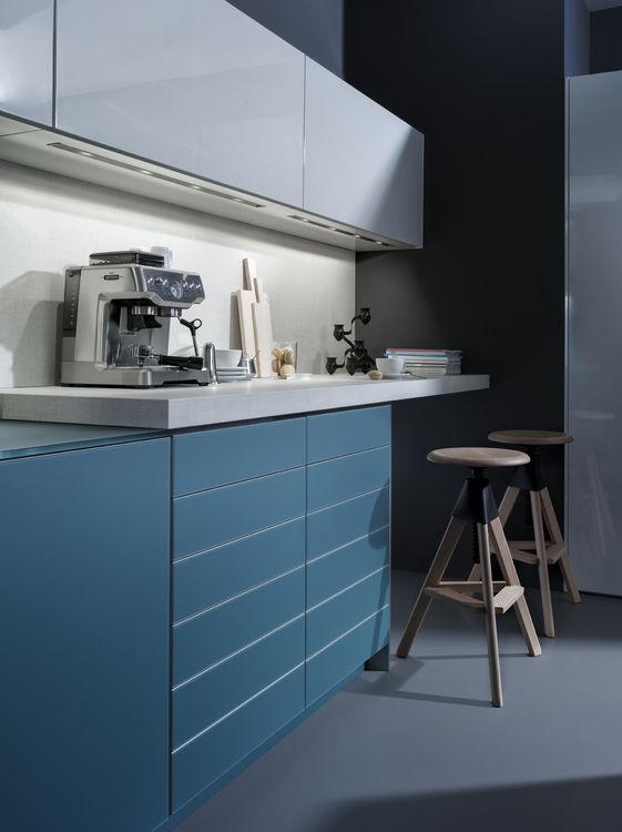Moderne Küche / Glas / Holz / Kochinsel - LARGO-FG | IOS-M - LEICHT ...