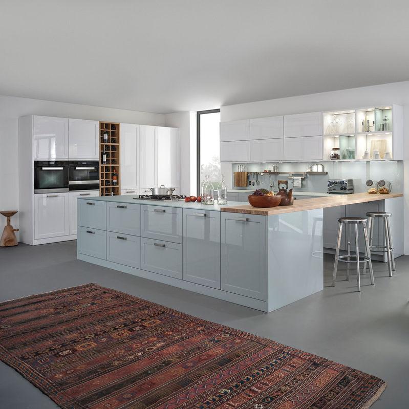 Moderne Küche / Glas / Holz / Kochinsel   CARRÉ 2 FG | XYLO | CARRÉ 2 LG