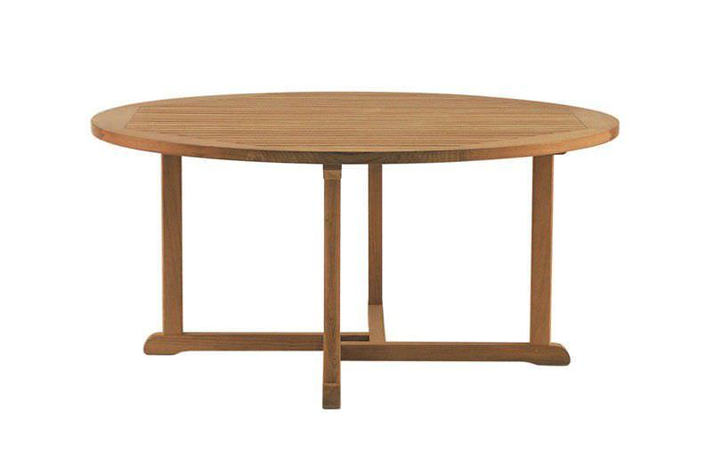 ... Klassischer Tisch / Aus Teakholz / Rund / Für Den Garten ...