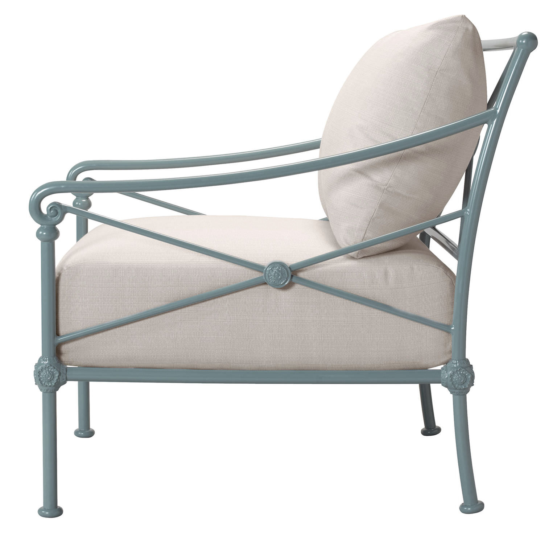 Klassischer Sessel / Stoff / Aluminium / mit abnehmbarem Kissen ...