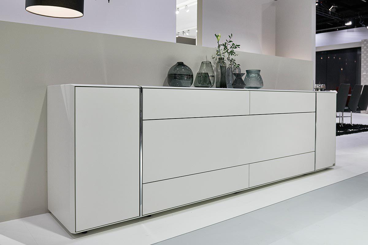 Modernes Sideboard Lackiertes Holz Weiss Grau Fonis Hulsta