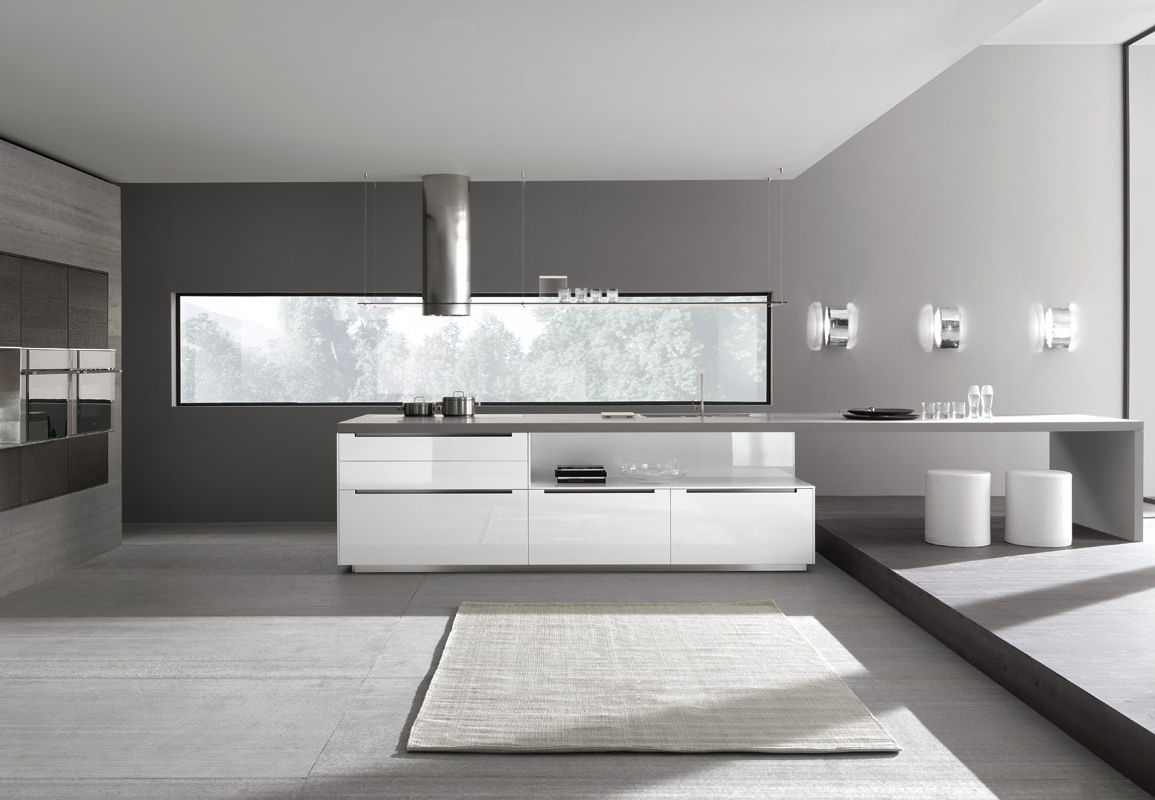 Moderne küche / holz / lackiert / hochglanz   linea by marconato ...