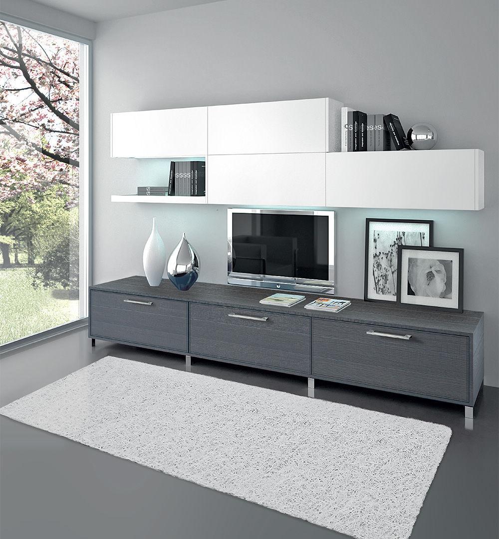 Moderne Wohnwand / lackiertes Holz - ADELE - CUCINE LUBE