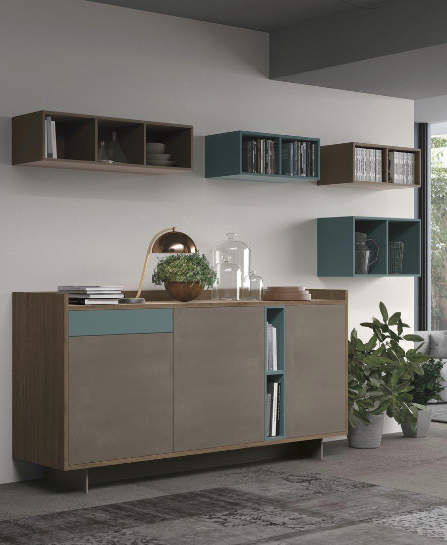 Modernes Sideboard / Holz / mit Regal / modulierbar - CLOVER ...