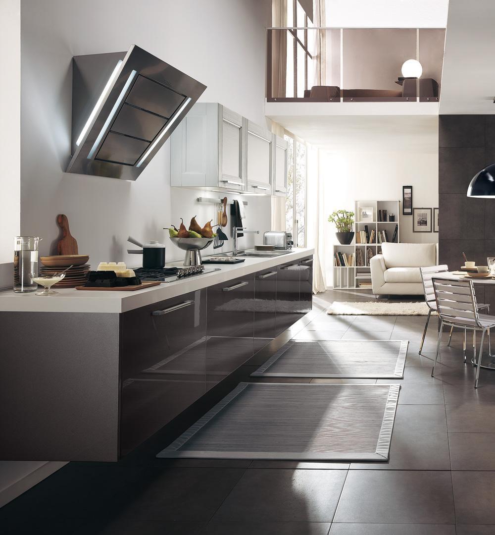 Moderne Küche / Holz / lackiert / Hochglanz - GEORGIA - CUCINE LUBE ...