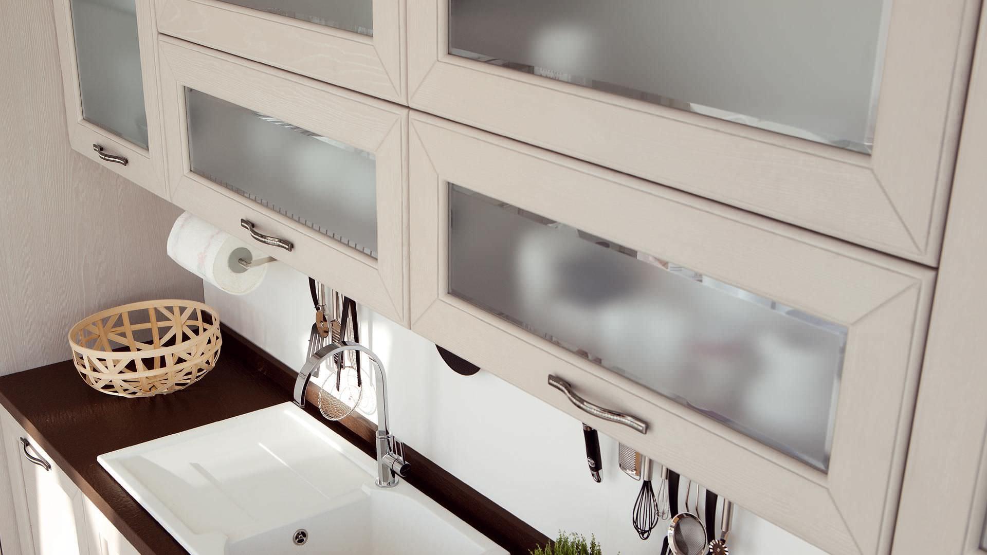 Moderne Küche / Holz / mit Griffen - CLAUDIA - CUCINE LUBE - Videos