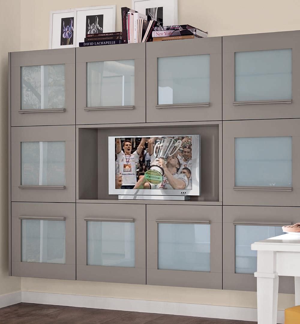 Modernes Fernsehmöbel / Holz - GALLERY - CUCINE LUBE - Videos