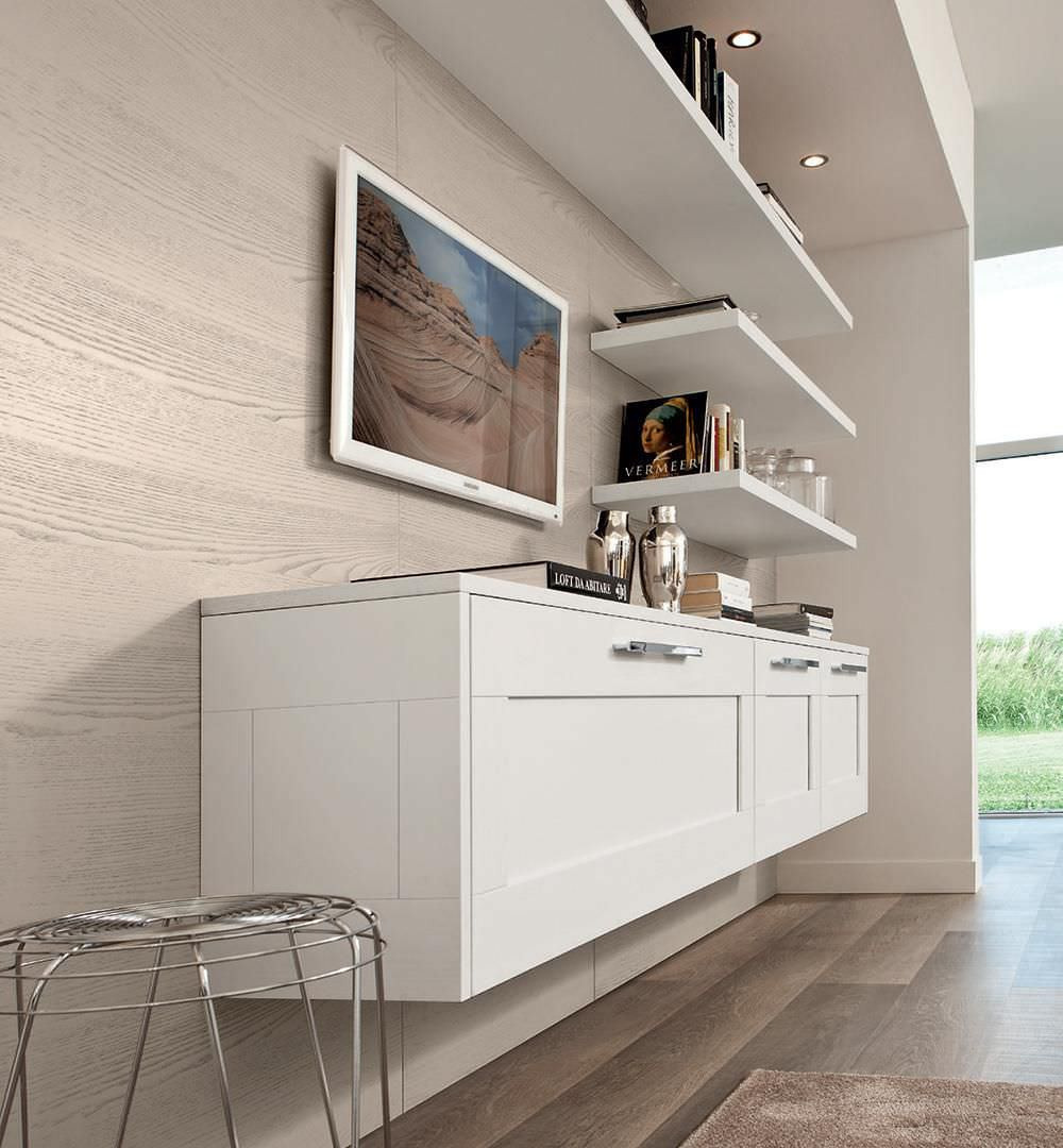 Wandmontiertes Sideboard / modern / Holz - GALLERY - CUCINE ...