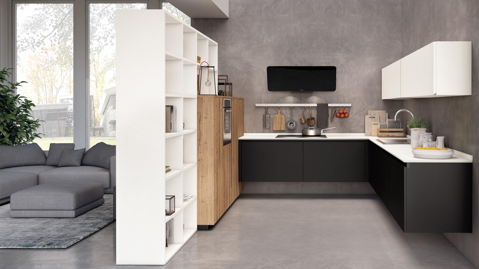 Moderne Küche / Holz / matt / lackiert - OLTRE - CUCINE LUBE