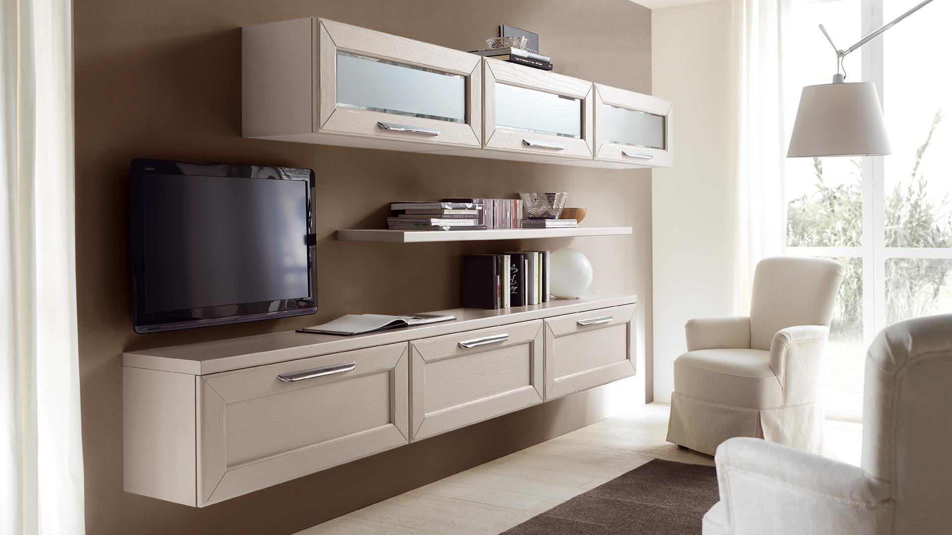Moderne Wohnwand / Holz - CLAUDIA - CUCINE LUBE
