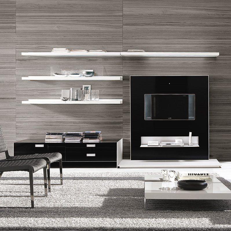 Moderne Wohnwand / Lackiertes Holz / Glas / Modul   FRAME By Bavuso Giuseppe
