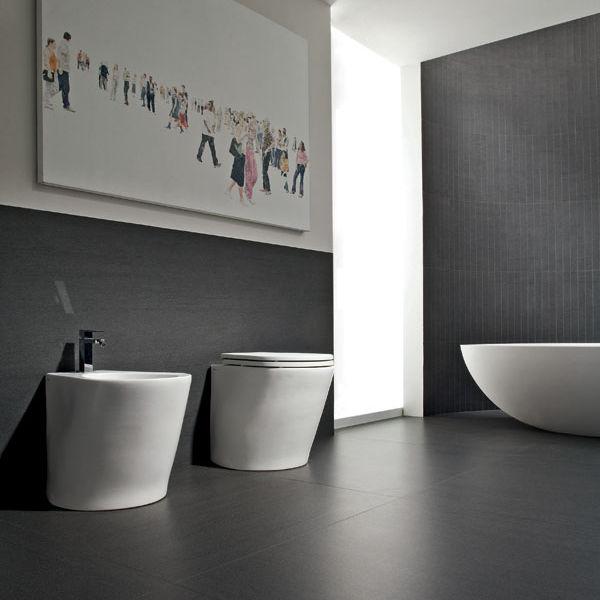 Fliesen Für Badezimmer / Fußboden / Feinsteinzeug / Uni   SLIMTECH  BASALTINA STONE PROJECT : STUCCATA
