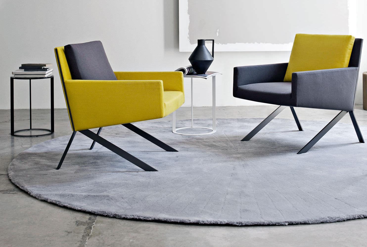 Teppich rund 300 cm  Moderner Teppich / uni / Neuseeland Wolle / Rund - CRATIS by CR&S ...