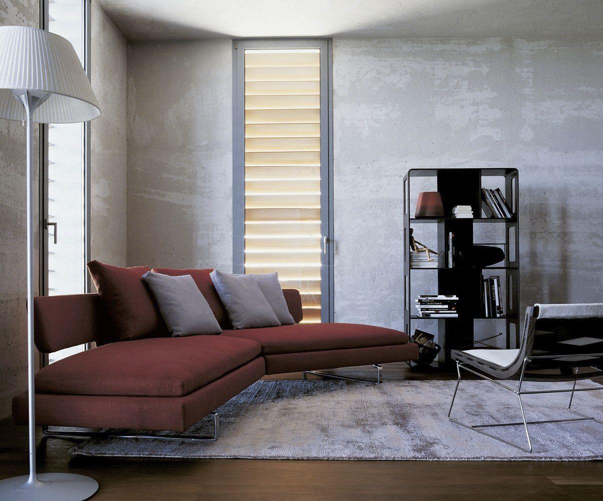 Halbrundes Sofa / Modern / Leder / Stoff ARNE Bu0026B Italia ...