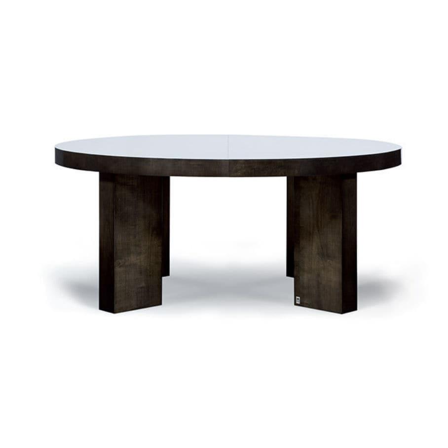Moderner Tisch / Aus Eiche / Aus Ahorn / Rund   NEW YORK
